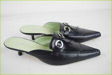 Mules Sandales MADISON Cuir Noir T 35 TBE