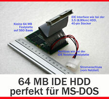 STOSSFSTE 64MB IDE MINI HARD DISC SSD PATA FOR MS-DOS MIT ADAPTOR 44-PIN 40-PIN