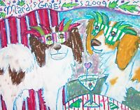 Phaelene Mardi Gras wall art artist PRINT 11x14 impressionism gift new Papillon