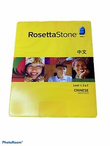 Rosetta Stone Chinese Mandarin Level 1,2, & 3 Homeschool Edition -Version 3