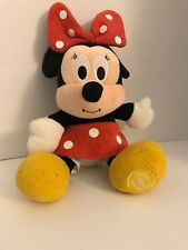 """New listing Vintage Disney Store Roly Minnie Mouse Red Polka Dot Plush Mini Toy Doll 12"""""""