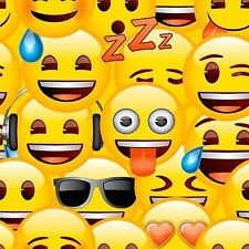 Official Emoji Characters Yellow Faces Kids Childrens Girls Boys Wallpaper