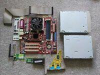 Various parts incl. MSI (Micro-Star) AMD Socket939 Micro ATX Motherboard MS-7093
