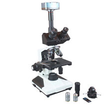 PCM Phase Contrast Asbestos Microscope w 5Mp Camera & Walton Beckette Scale
