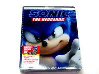 Sonic The Hedgehog 4K ULTRA HD + Blu-ray + Digital STEELBOOK Brand New & Sealed