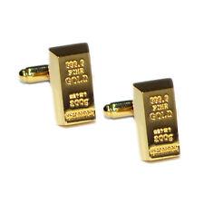 Oro Lingote Mancuernas Barra de lingotes de oro banquero Hombre Rico Regalo De Cumpleaños