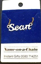 Scott, Sean, Simon or Stephen - 1980s Name on a Chain Necklace
