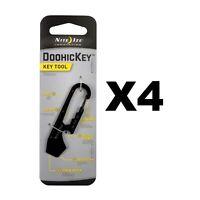 Nite Ize DoohicKey Key Tool Black Steel Keychain Multi-Tool w/Key Clip (4-Pack)