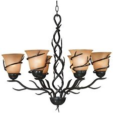 Light Fixtures For Dining Room Rustic Chandelier Bronze Finish Vines Glass Lamps