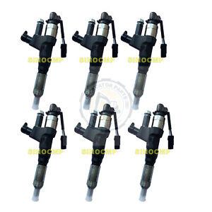 6pcs Fuel Injectors 095000-6595 VH23670E0010 For Hino J08E Kobelco SK200-8 Parts