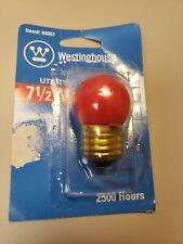 WESTINGHOUSE 7.5W RED Utility Light Bulb 7-1/2 Scoreboard 120V Standard 04067