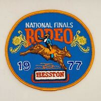 1977 NFR Rodeo Patch National Finals Vintage Bull Rider Hesston