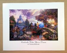 "Thomas Kinkade Open Edition DISNEY print ""Cinderella Wishes Upon a Dream"""