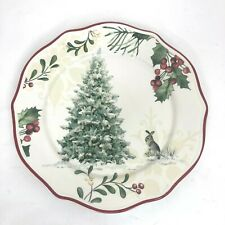 """Better Homes and Gardens """"Winter Forest"""", Salad Plates - Christmas Tree"""