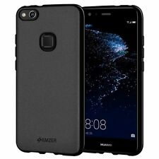AMZER Exclusive Pudding Matte TPU Case Back Cover For Huawei P10 Lite - Black