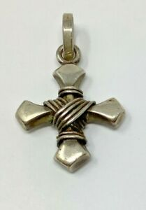 Vintage Sterling Mexico Iron Cross 13.8 Grams