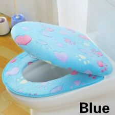 Washable Bathroom WC Toilet Seat Cover Coral Fleece Thick Closestool Mat Soft