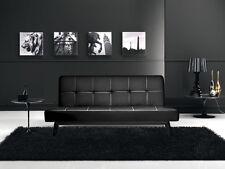 Divano letto sofa 180x80 nero ecopelle reclinabile design moderno arredo|iko