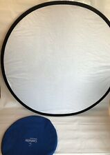 """LASTOLITE 48"""" WHITE & SILVER COLLAPSIBLE BACK GROUND REFLECTOR"""