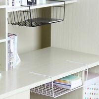 Kitchen Bathroom Storage Under Shelf Wire Rack Cabinet Basket Organizer Holder