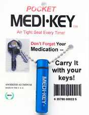 PILL BOTTLE KEY CHAIN - MEDIUM SIZE, MADE IN USA! FREE SHIPPING!
