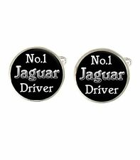 No.1 Jaguar Driver Mens Cufflinks Ideal Wedding Birthday Fathers Day Gift C446