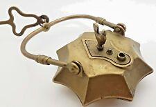 MINERS LAMP OCTAGON FRANCE 1800 LENTICULAR VINTAGE TUNNEL LANTERN BRONZE