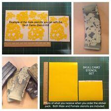 Skull Camo Stencil Pack, for Duracoat, Cerakote, Krylon, Gunkote!