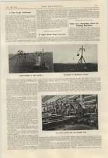1924 LUCE ANTENNA Corda Trasportatore WH Allen CONDENSATORE A GRANDE