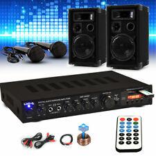 PA Party Karaoke Musikanlage PA Boxen Bluetooth USB SD MP3 Receiver 2x Mikrofon