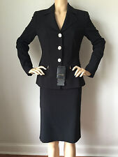 NEW ESCADA SIZE 36 US 6 WOMENS SKIRT SUIT JACKET BLACK