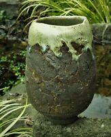 Studio Art Pottery.. vase ...Wabi Sabi... Minimalist ..Japanese style