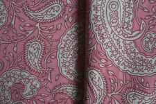 3 Yard Indian Handmade Paisley Print Cotton Fabric Sewing Material Craft _(P)