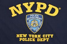 Officially Licensed NYPD New York City Police Department T Shirt Blue Large