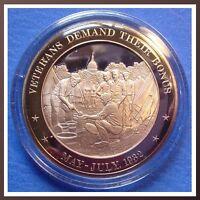 1932 United States VETERANS Bonus - FRANKLIN Mint SOLID BRONZE - Uncirculated