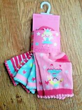 Baby socks girls 3 pack new UK seller , size 0-2m pink blue cotton soft