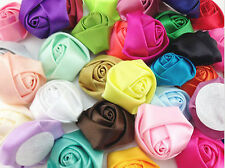 Satin Ribbon Flower Appliques/Decoration/Wedding~Craft/Trim 10/50/100PCS 25mm *
