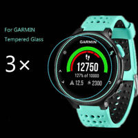 3x Premium Tempered Glass Screen Protector Protective Film For Garmin Forerunner