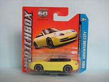 Diecast Matchbox Porsche 911 Carrera Cabriolet Yellow on Blister