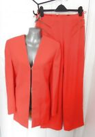 ❤ GIANNI VERSACE COUTURE Vintage 1980s Ladies Trouser Jacket Suit Orange 10 (44)