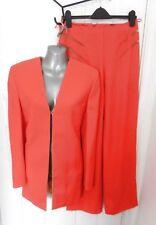4dd7e51af05b1 GIANNI VERSACE COUTURE Vintage 1980s Ladies Trouser Jacket Suit Orange 10  (44)