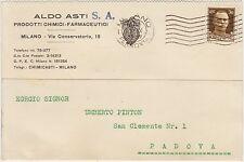 MILANO - PRODOTTI CHIMICI FARMACEUTICI ALDO ASTI 1935