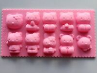 Hello Kitty Bunny Chocolate Cake ice Cube Cookie Silicone Mold Mould Decorating