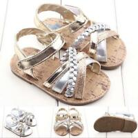 Baby Outdoors Sandals Toddler Princess First Walkers Girls Kids Crib Shoes 0-18M
