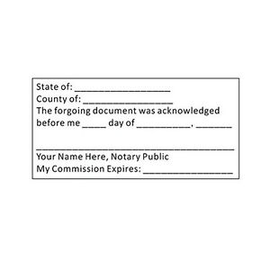Custom Acknowledgment Stamp - Self-Inking Trodat 4926 - Notary - (ACK-NOTARY)