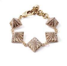 New Lulu Frost Apex Crystal Pave Pyramid Bracelet Rhinestone $200+