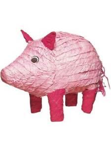 Pig Bash Pinata Celebration Animal Party Games Birthday Boys Girls Kids Fun