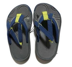Columbia Boys Oliver Springs Flip Flop Sandals Kids sz 8-9-10-13 Blue/Gray/Lime