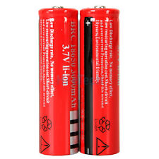 2PCS 18650 BRC Batteries 3.7v Rechargeable Li-ion Battery for Torch