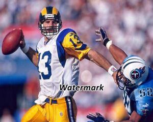 NFL 1999 QB Kurt Warner St. Louis Rams Game Action Color 8 X 10 Photo Picture